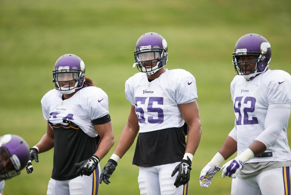Vikings Linebackers Vs San Diego Chargers