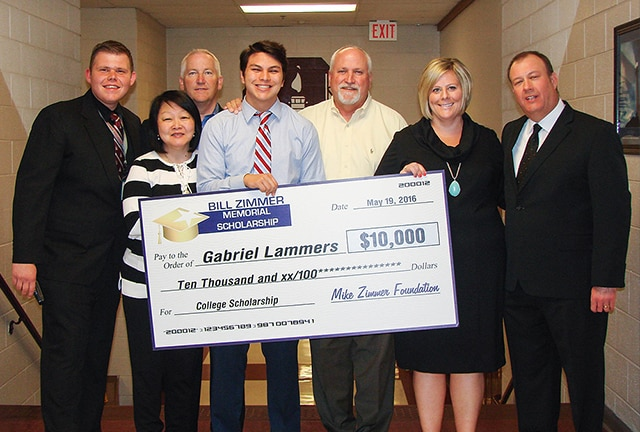 Mike Zimmer Foundation Gabriel Lammers Check